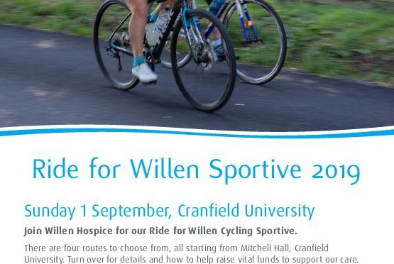 Venue Cranfield is fundraising for Willen Hospice Milton Keynes!